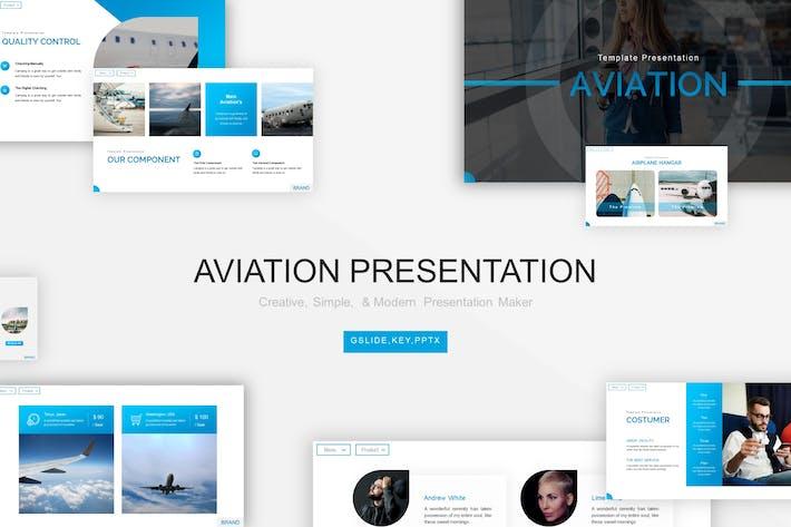 Thumbnail for Шаблон авиационной презентации