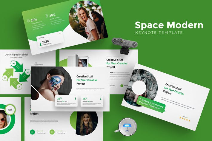 Thumbnail for Space Modern - Keynote Template