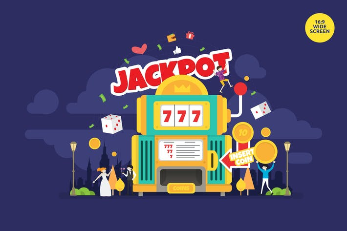 Thumbnail for Jackpot Casino Night Vector Illustration Concept