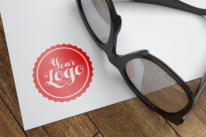 Thumbnail for Logo papier Mockup 002