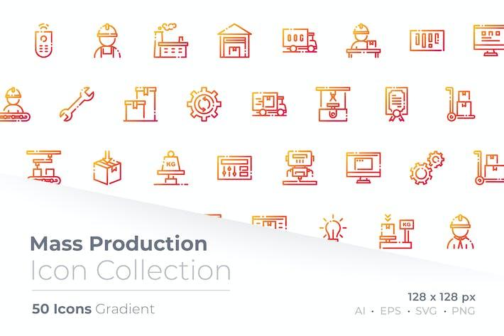 Mass Production Gradient Icon