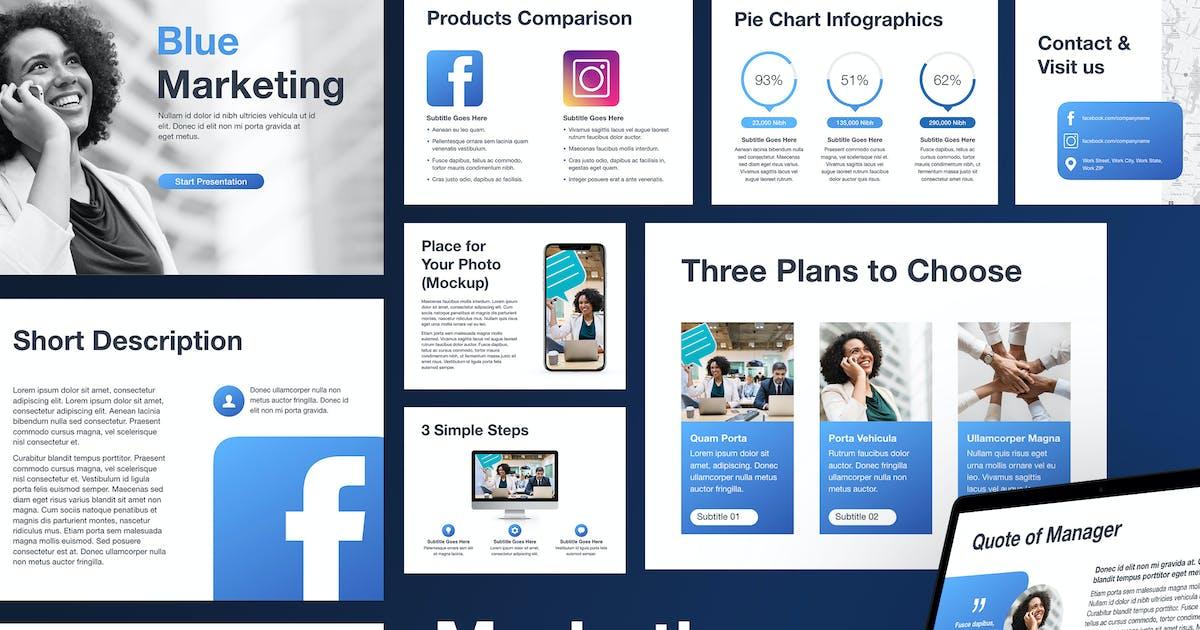 Download Marketing Blues Keynote Template by Jumsoft