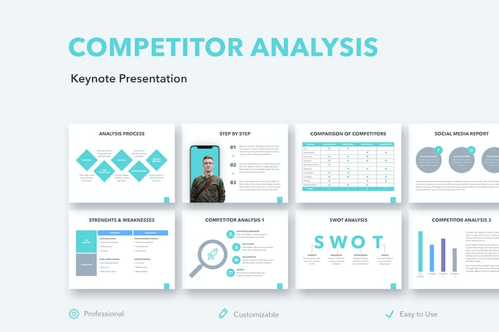 Thumbnail for Competitor Analysis Keynote Template
