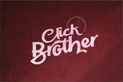 Click Brother Script Font
