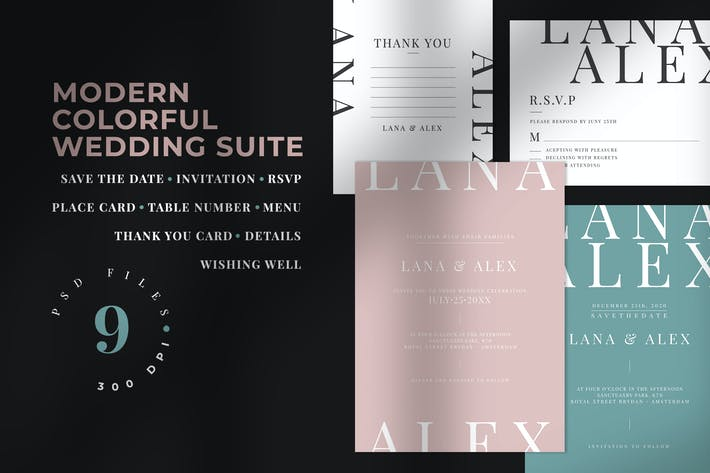Thumbnail for Modern Colorful Wedding Suite
