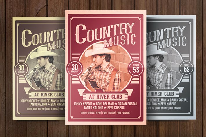 Thumbnail for Country Music Poster Flyer