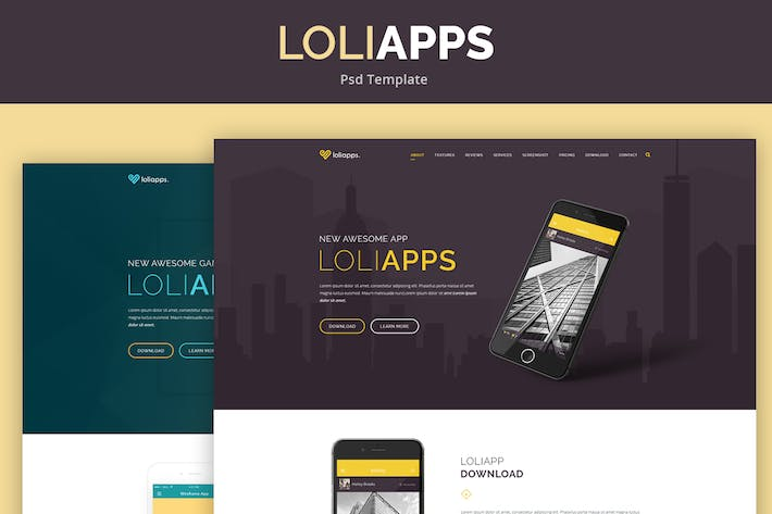 Thumbnail for LoliApps - Landing page Theme