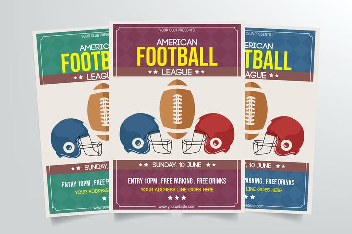 Thumbnail for American Football Flyer Template