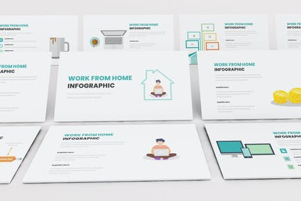 Work From Home Infographic Keynote