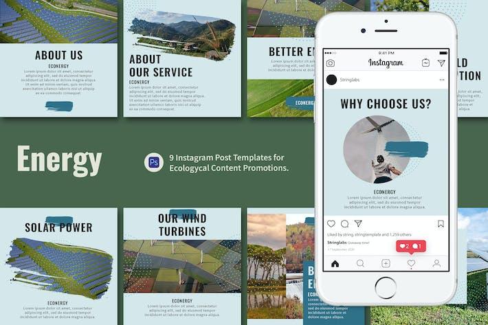 Thumbnail for Alternative Energy Instagram Post Template