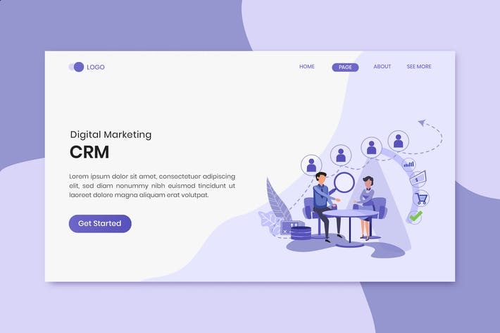 Thumbnail for CRM Marketing Landing Page