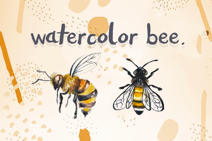 Cover Image For Watercolor Bee
