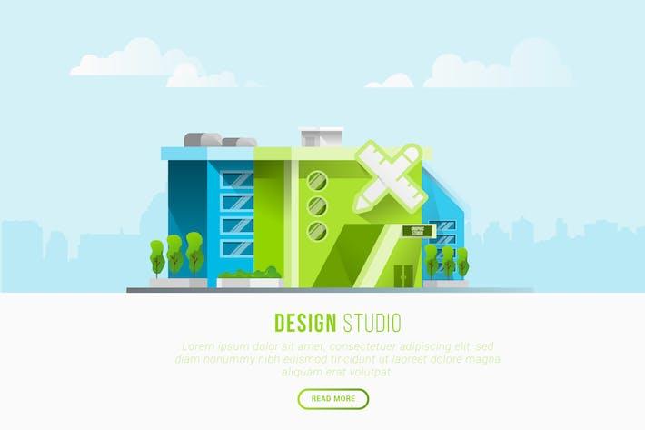 Thumbnail for Design Studio - Vector Landscape & Building