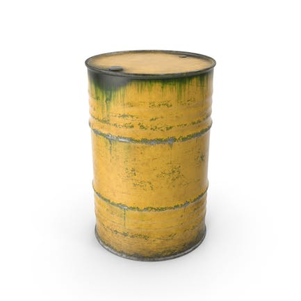 Стальная бочка желтый