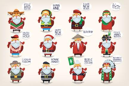 Weihnachtsmänner der Welt