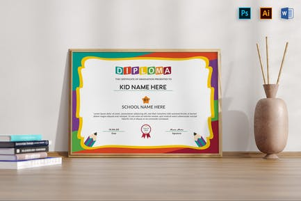Diploma Certificate Kid