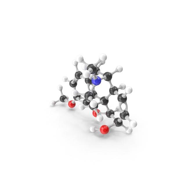 Codeine Molecular Model