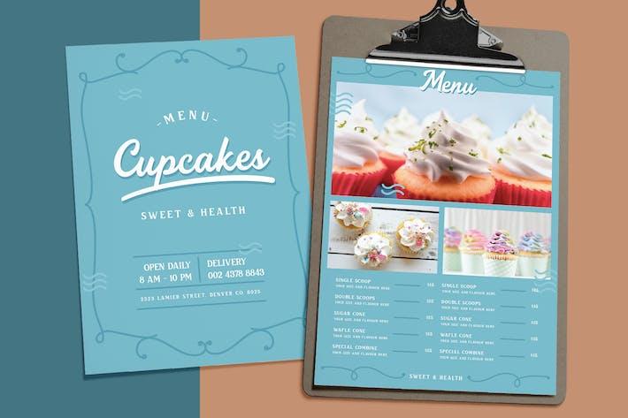 Thumbnail for Sweet Blue - Cupcakes Menu