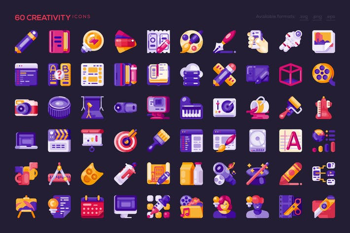 Thumbnail for 60 Creativity Icons