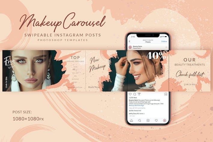 Thumbnail for Makeup Instagram Carousel Posts