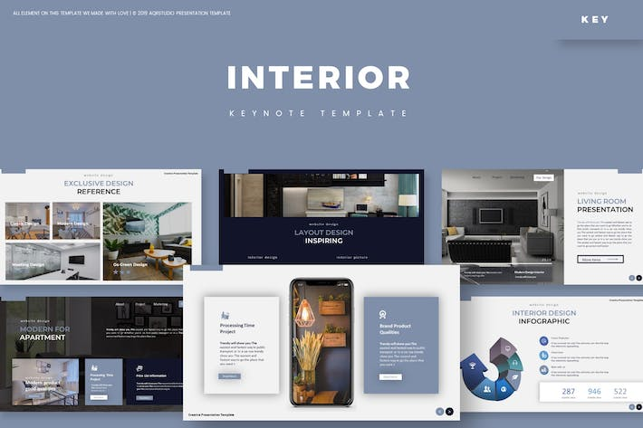 Thumbnail for Interior - Keynote Template