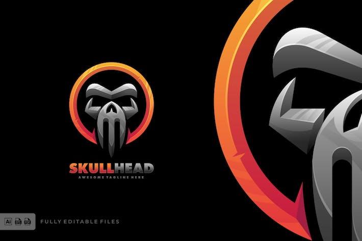 Thumbnail for Skull Head Bold Logo Template