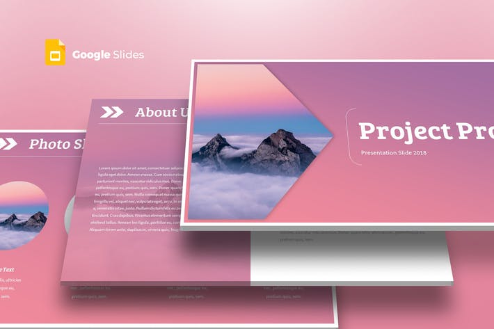 Thumbnail for Project Pro - Google Slides Template