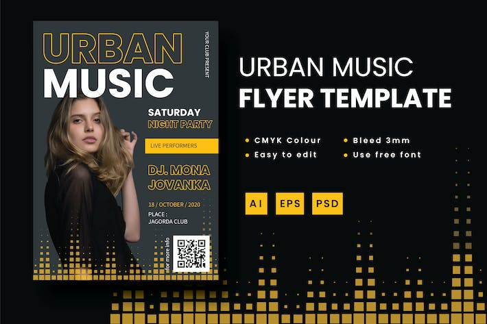 Thumbnail for Urban Music - Flyer Template
