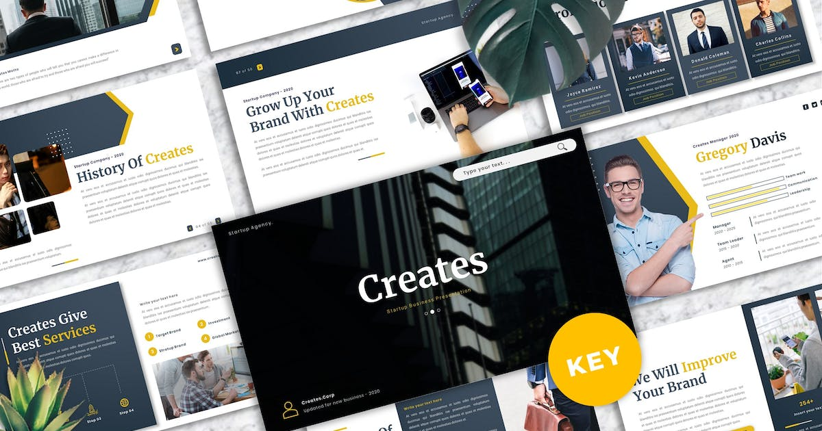 Download Creates - Business Keynote Template by Yumnacreative