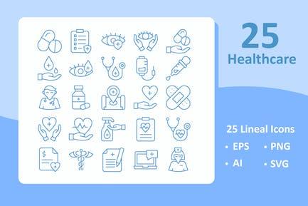 25 Healthcare Icons ( Line )