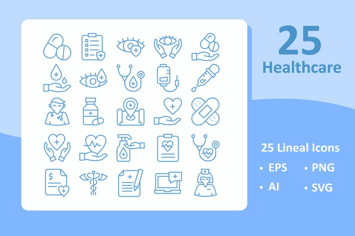 Thumbnail for 25 Healthcare Icons ( Line )