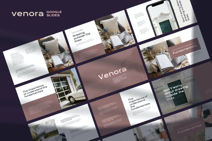 Thumbnail for Venora - Elegant Google Slides