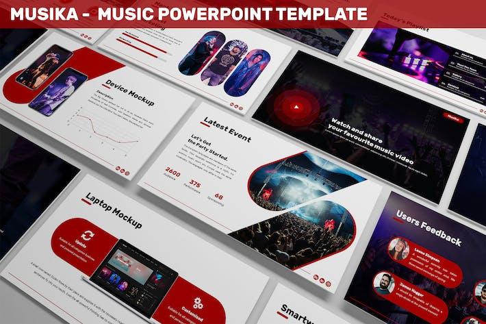 Thumbnail for Musika - Музыка Powerpoint Шаблон