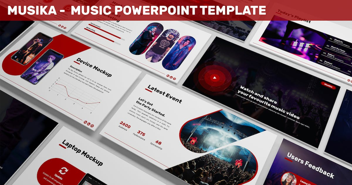 Download Musika - Music Powerpoint Template by SlideFactory