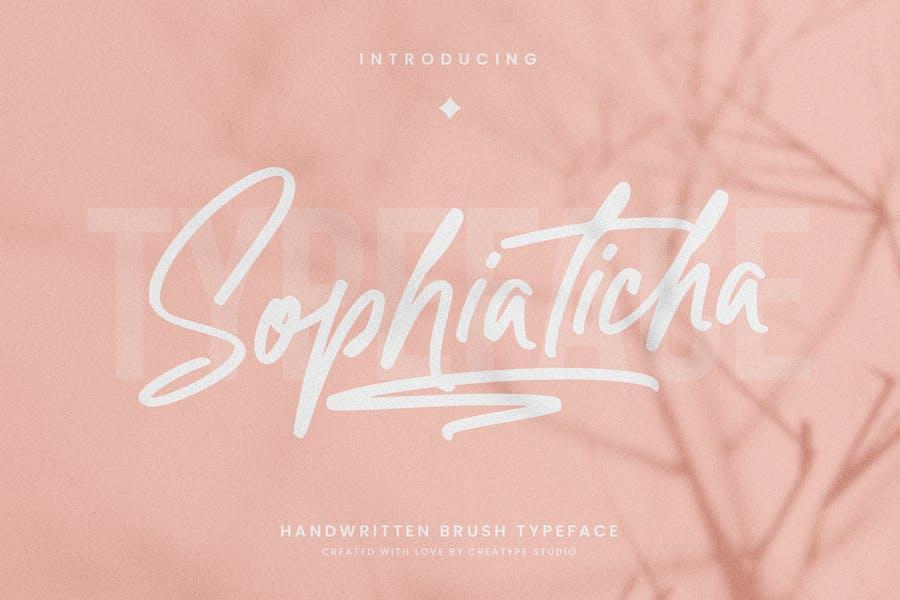 Pincel manuscrito Sophiaticha