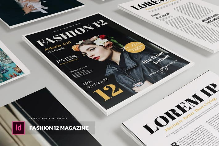 Thumbnail for Fashion 12   Magazine Template