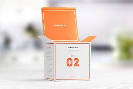 Package Box Mock-up: Square Box
