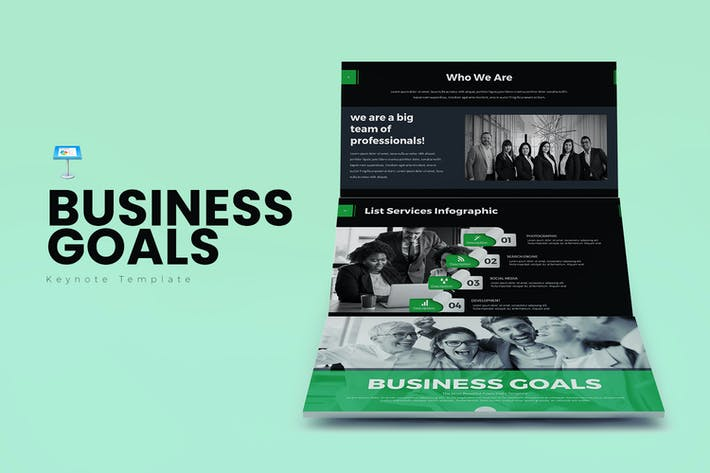 Thumbnail for Business Goals Keynote Templates