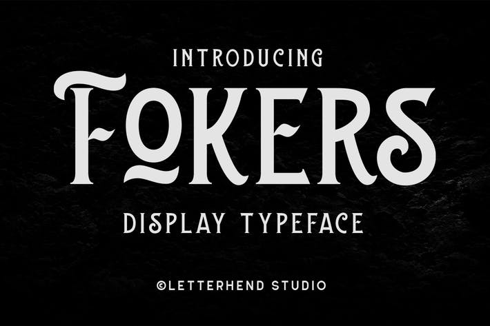 Thumbnail for Fokers - Display Typeface
