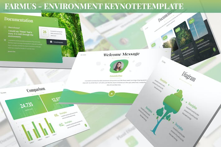Thumbnail for Farmus - Environment Keynote Template