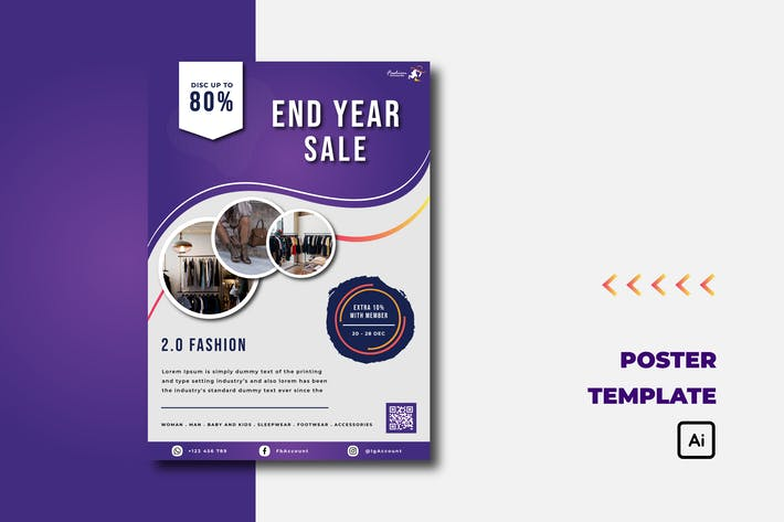 Thumbnail for Purple End Year Sale - Flyer