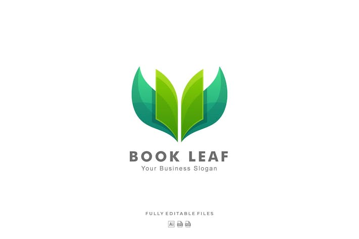 Thumbnail for Leaf and Book Colorful Logo