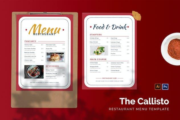 Callisto - Restaurant Menu