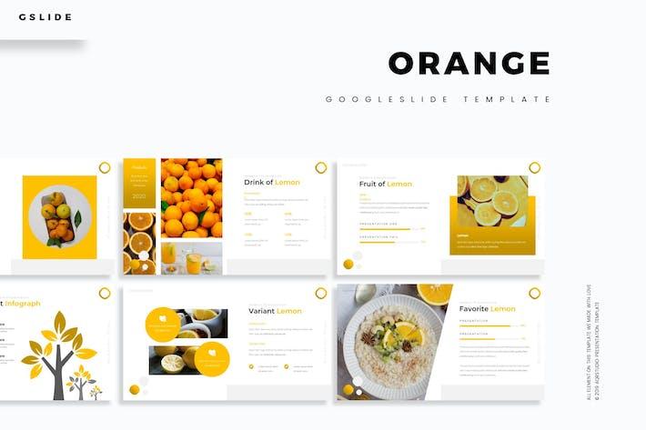Оранжевый - Шаблон слайдов Google