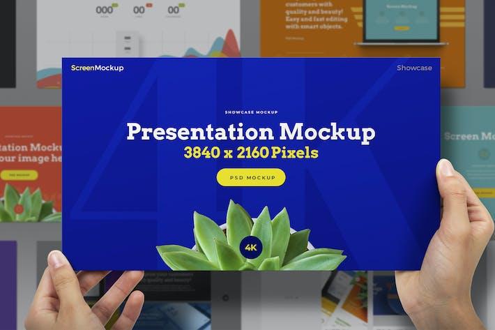 Hands Holding Presentation Mockup Showcase 4K