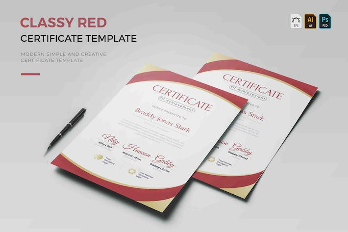 Thumbnail for Classy Red | Certificate