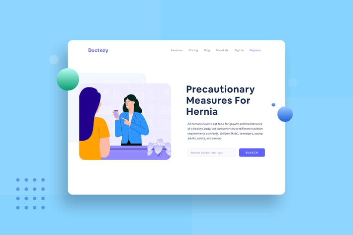 Thumbnail for Healthcare Doctor give prescription landing page