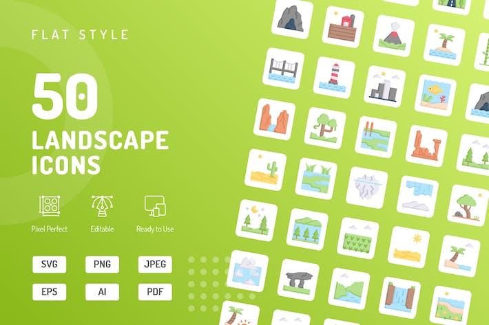 Thumbnail for Landscape Flat Icons