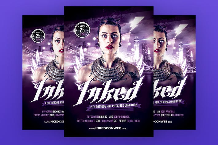 Thumbnail for Tattoo Convention Flyer Template PSD