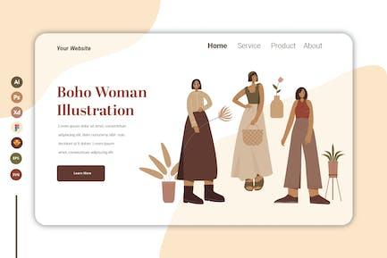 Boho Woman Vol 2 - Landing Page Template